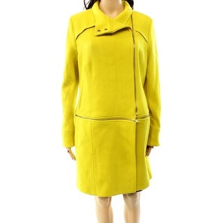 INC NEW Yellow Canary Women's Size Large L Two-Way Convertible Coat