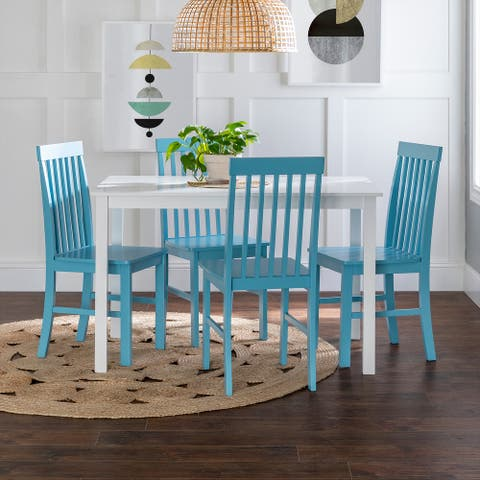 Porch & Den Pompton 5-piece Dining Set with Slat Back Chairs