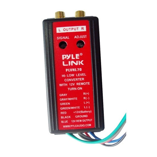 2-Channel HI Level To Low Level Converter with 12V Remote Turn-On