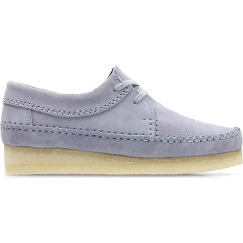 Clarks Women's Weaver Moc Toe Shoe Cool Blue Suede