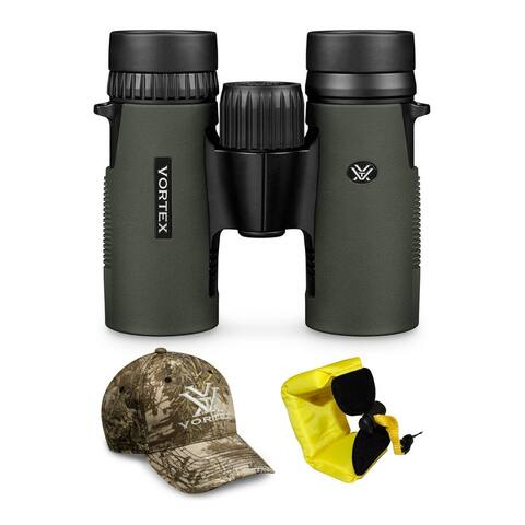 Vortex 10x32 Diamondback HD Roof Prism Binoculars with Strap and Hat