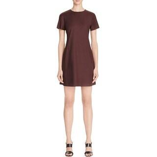 Theory Womens Jatinn Cocktail Dress Crew-Neck Short Sleeve - 12