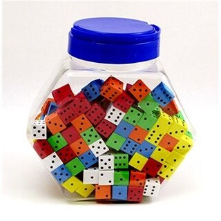 Koplow Games Inc. 16Mm Foam Dice Tub Of 200 Assorted Color Spot