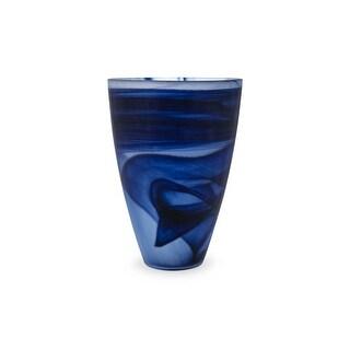 IMAX Home 83950  Nicolla Glass Vase - Blue