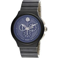 Movado Men's Parlee Black Metal Quartz Fashion Watch