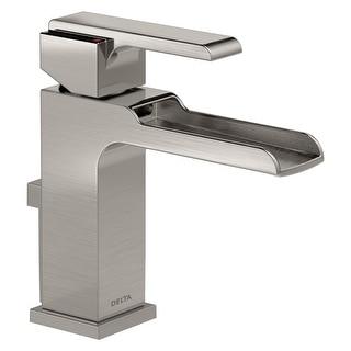Delta 568LF-MPU  Ara 1.2 GPM Single Hole Waterfall Bathroom Faucet Includes Metal Pop-Up Drain Assembly