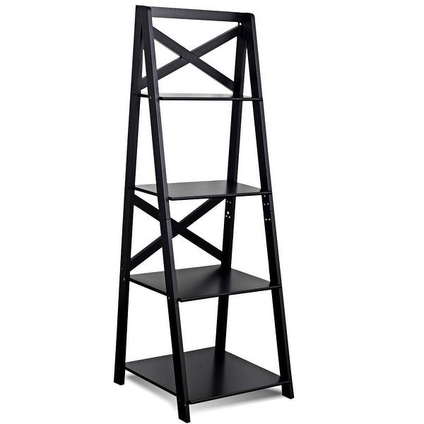 4-Tier Ladder Space-saving Bookshelf