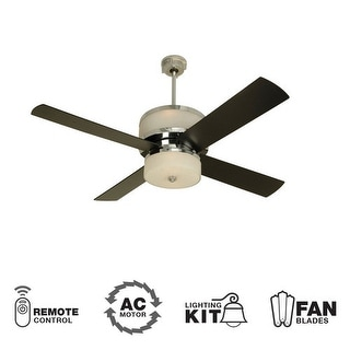 """Craftmade Midoro Modern 56"""" 4 Blade Indoor Ceiling Fan - Blades and Light Kit In"""