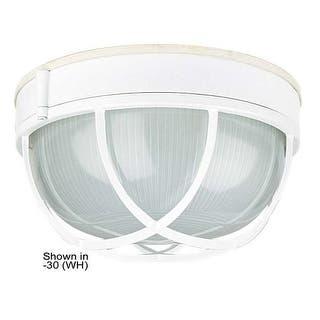 White outdoor lighting for less overstock sunset lighting f7987 1 light outdoor cast aluminum 10 wide flush mount ceiling fixture aloadofball Gallery