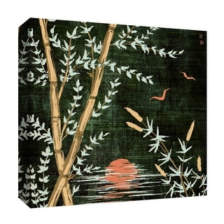 "PTM Images 9-126833  PTM Canvas Collection 12"" x 12"" - ""Green Night"" Giclee Birds Art Print on Canvas"