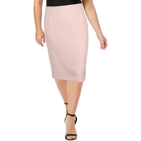 Le Suit Womens Pencil Skirt Pattern Polyester