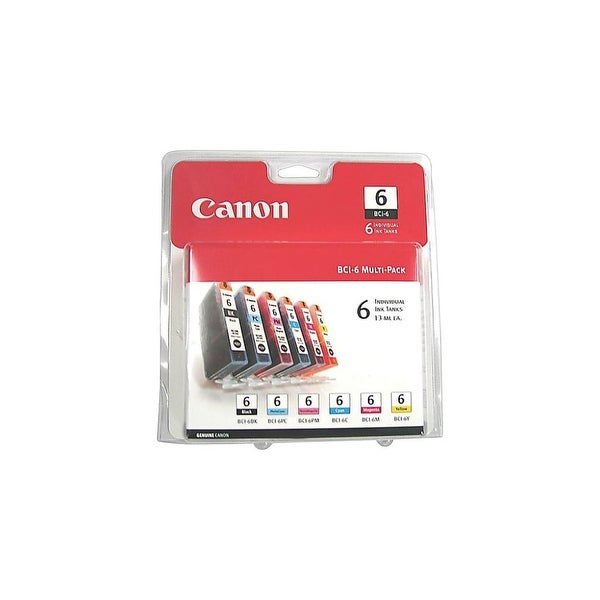 Canon BCI-6 Color Ink Cartridges INK, BCI-6, SIX PACK CLAMSHELL,