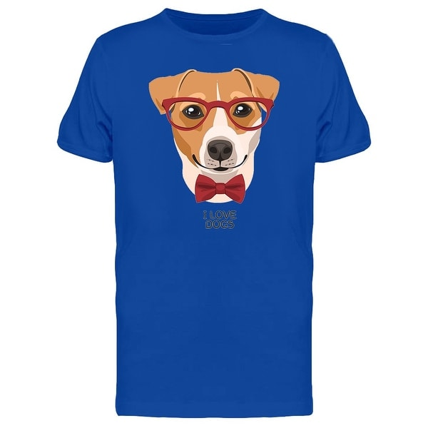 9d5bd1fbb Shop I Love Dogs Smart Dog Tee Men's -Image by Shutterstock - Free Shipping  On Orders Over $45 - Overstock - 27954727