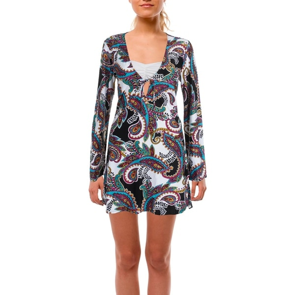 24c893c74f Shop Kenneth Cole New York Womens Eclectic Adventure Printed Dress Swim  Cover-Up - Free Shipping On Orders Over  45 - Overstock.com - 20684417
