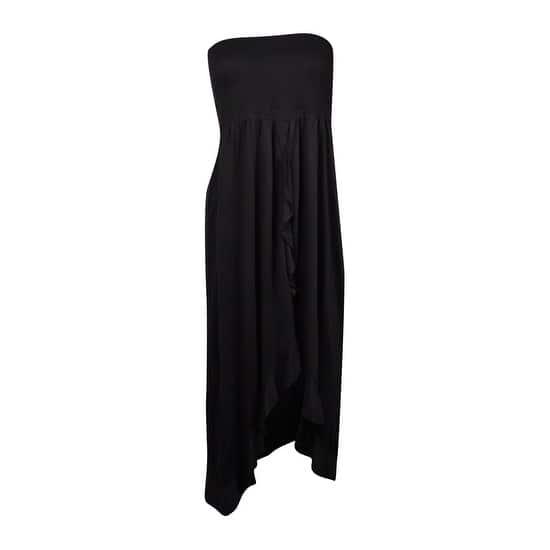 a8d4a81dc6 Shop Raviya Women's Smocked Tube Dress Cover-Up (S, Black) - Black ...