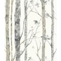 "RoomMates RMK9047WP 20-1/2"" x 198"" - Birch Trees - Self Adhesive Vinyl Film - 28.18 Sq. Ft. - N/A"