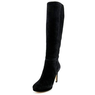 Nine West Okena Women Round Toe Suede Black Knee High Boot