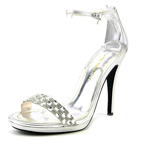 Caparros Serena Women Open Toe Synthetic Silver Sandals