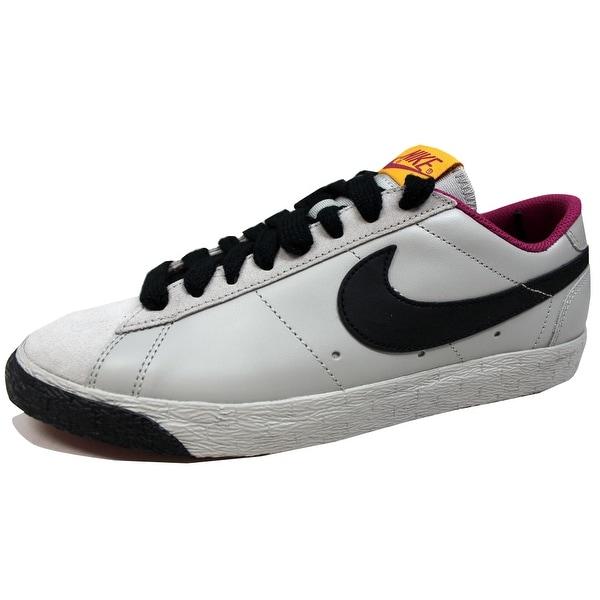 Nike Men's Blazer Low Classic Granite/Black-Rave Pink-Pure Gold 317552-004 Size 9