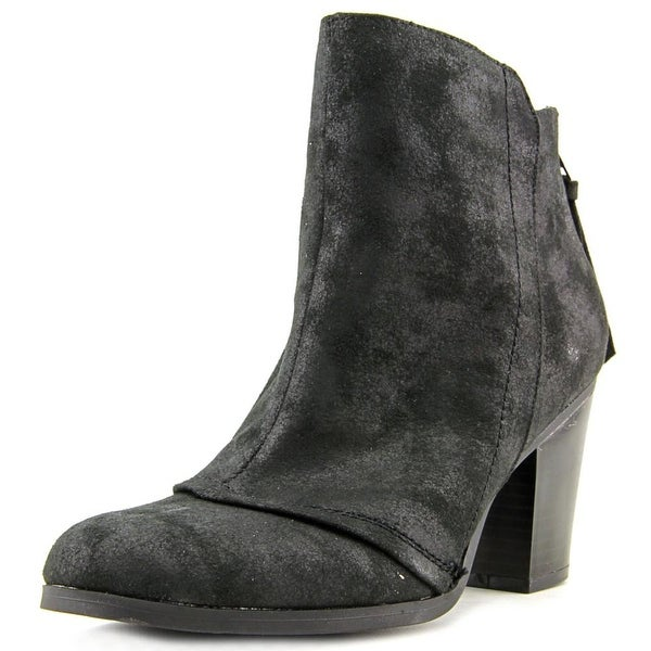 Bar III Jillian Women Round Toe Canvas Black Ankle Boot