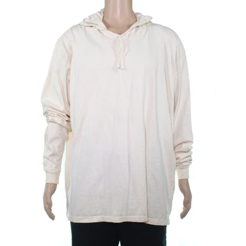 American Apparel Mens T-Shirt Beige Size XL Heavy Jersey Box Hoodie