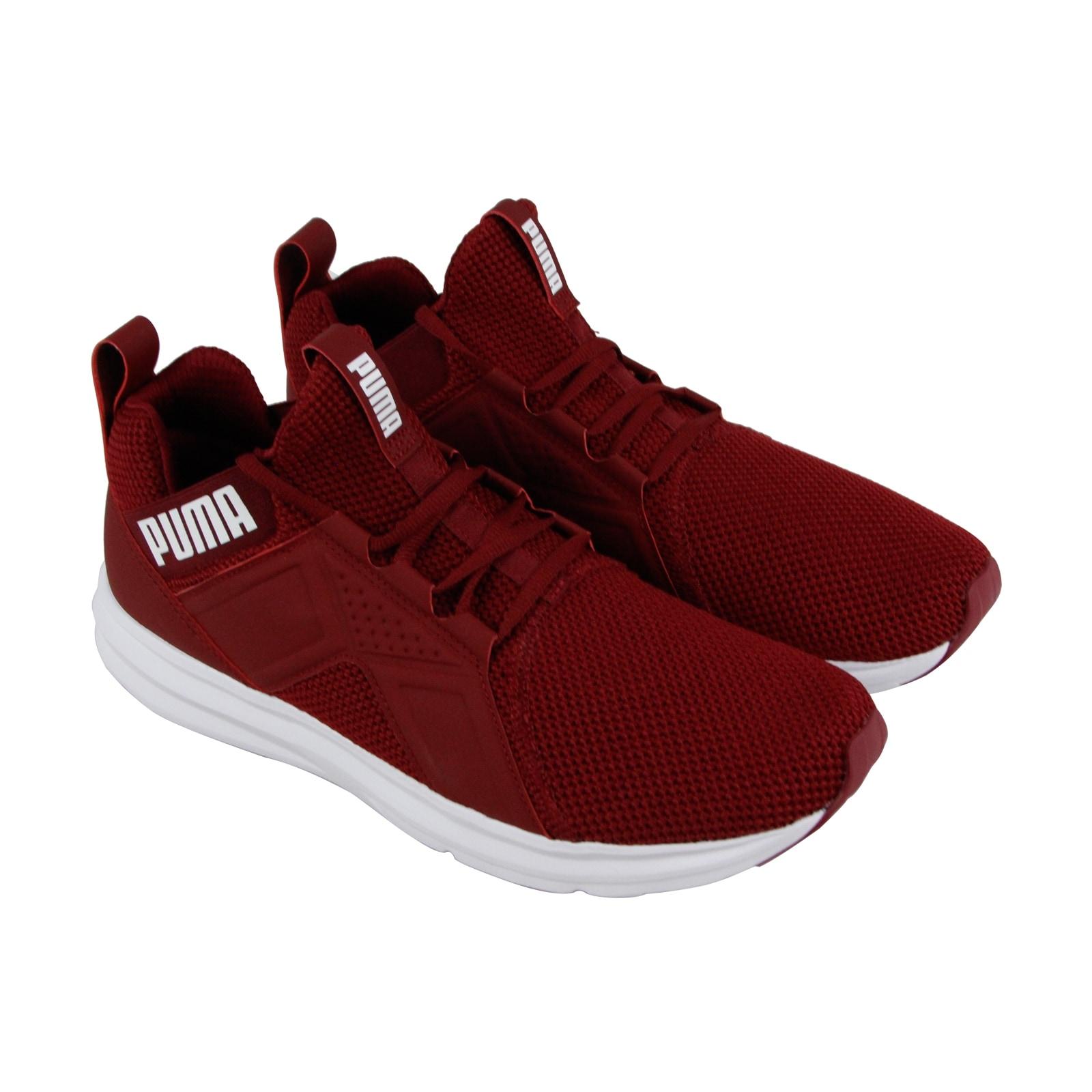 Shop Puma Enzo Weave Mens Red Textile