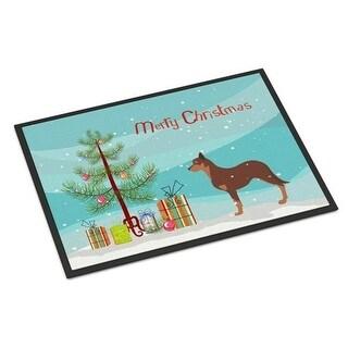 Carolines Treasures BB2947JMAT Australian Kelpie Dog Merry Christmas Tree Indoor or Outdoor Mat 24 x 36