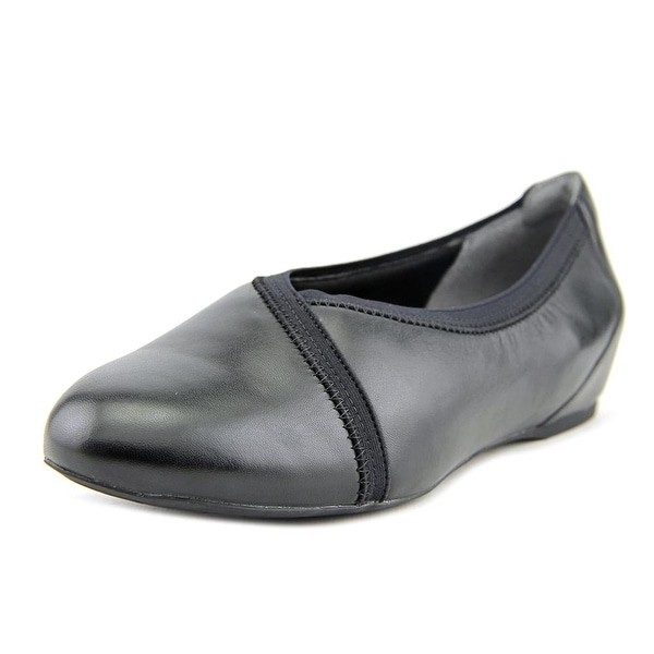 Rockport Envelope Women W Round Toe Leather Black Ballet Flats