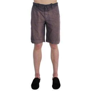 Dolce & Gabbana Gray Faded Cotton Above Knees Casual Shorts