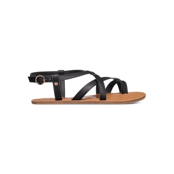Roxy Womens SEVILLA Leather Open Toe Casual Strappy Sandals