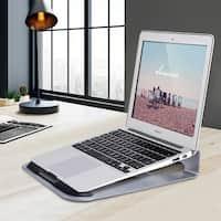 Gymax Lightweight Aluminum Laptop Stand Desk Holder 11''-15.5'' Notebook Macbook Laptop