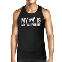 My Dog My Valentine Mens Black Tank Top Cute Graphic For Dog Owners
