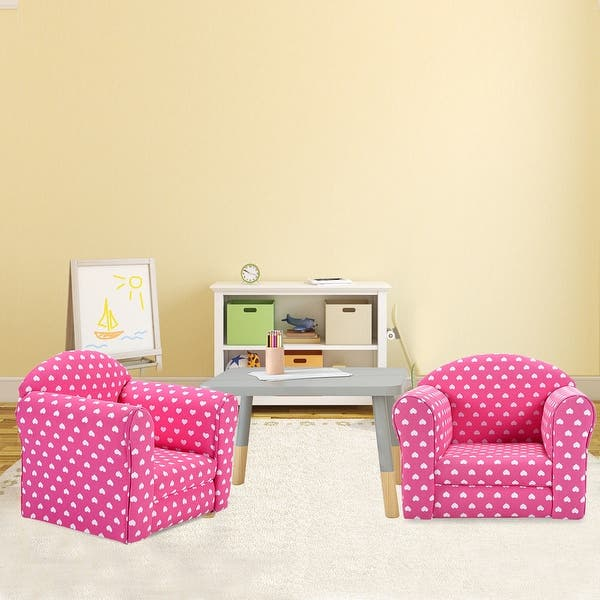 Shop Costway Pink w/Stars Kid Sofa Armrest Chair Couch ...