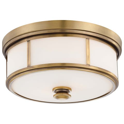 Harbour Point Liberty Gold 2 Light Flush Mountby Minka Lavery - N/A