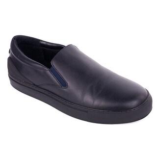 Emporio Armani Mens British Blue Leather Slip On Sneakers