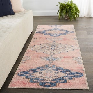 Link to Vibe by Jaipur Living Adalee Medallion Pink/ Blue Area Rug Similar Items in Rugs