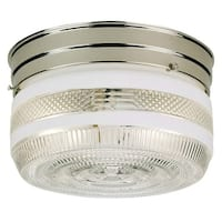 Westinghouse 66240 Two-Light Interior Flush-Mount Ceiling Fixture, Chrome