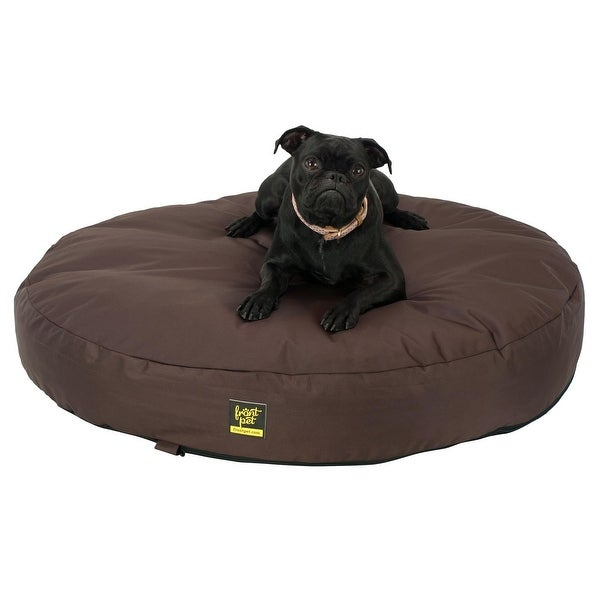 Dog Chewed Up Rug: Shop Frontpet Chew Resistant Memory Foam Dog Bed- Brown