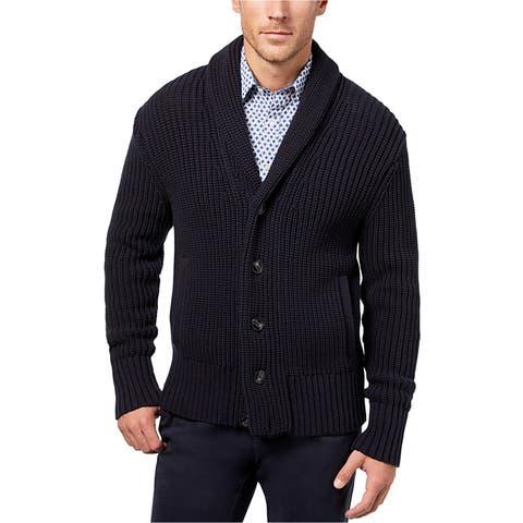 Michael Kors Mens Ribbed Cardigan Sweater