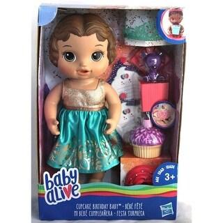 Hasbro HSBE0597 Baby Alive Cupcake Birthday Baby Brunette - 2
