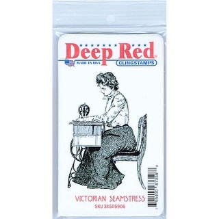 Link to Deep Red Stamps Victorian Seamstress Rubber Cling Stamp - 2.1 x 3.1 Similar Items in Stamping
