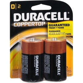 Duracell Coppertop D Alkaline Batteries 2 Each