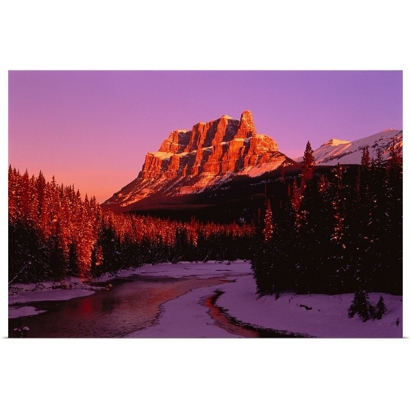 """Castle Mountain in Winter Banff National Park Alberta, Canada"" Poster Print"