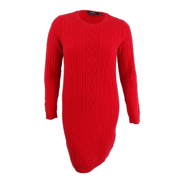Shop Lauren by Ralph Lauren Women s Aran-Knit Sweater Dress - On ... 944c2a630