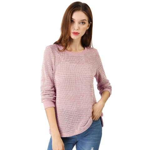 Women's Curved Hem Pullover Knitted Top