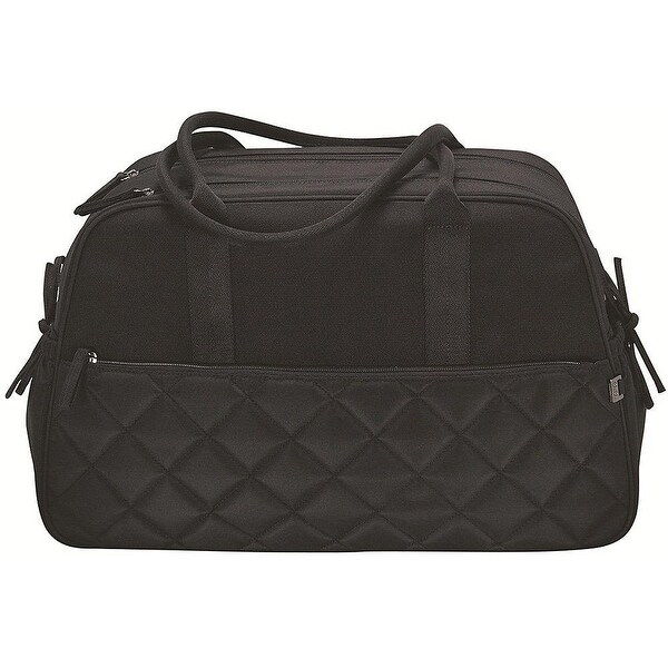 oioi Black Quilted Carry-All Diaper Bag