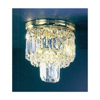 """Classic Lighting 1620-G 9.5"""" Crystal Flush Mount Ceiling Fixture from the Ambassador Collection"""