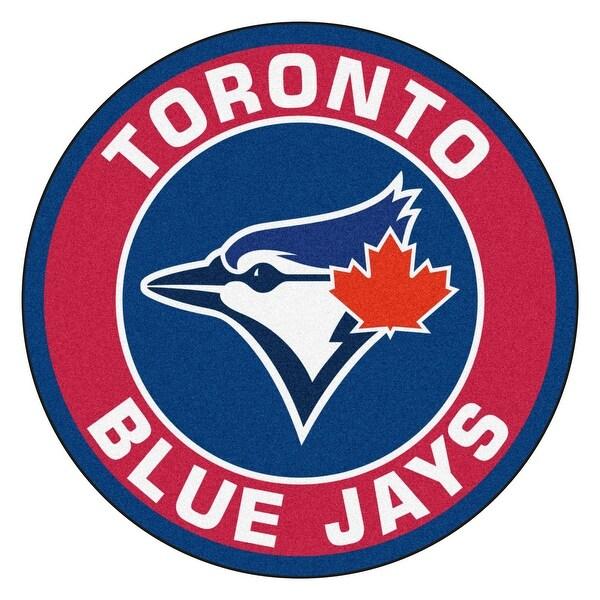 quality design 2e8c1 09d7e MLB Toronto Blue Jays Rounded Non-Skid Mat Area Rug