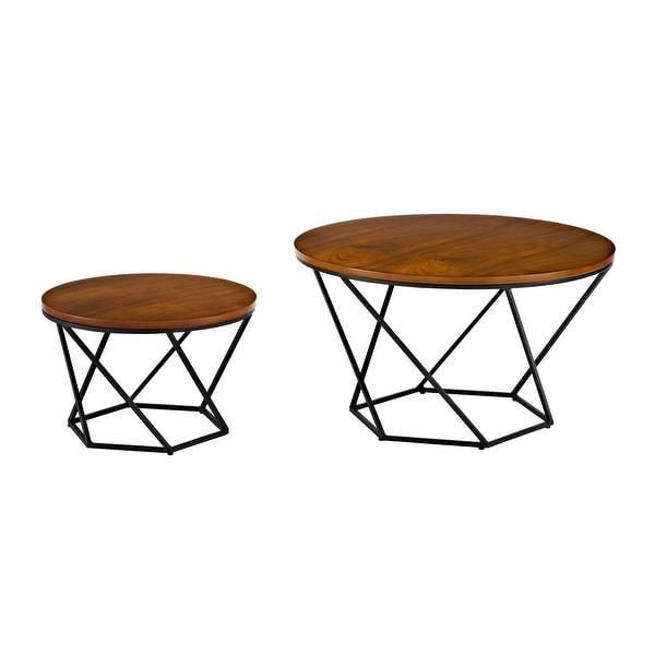 Shop Offex Mid Century Modern Geometric Wood Nesting