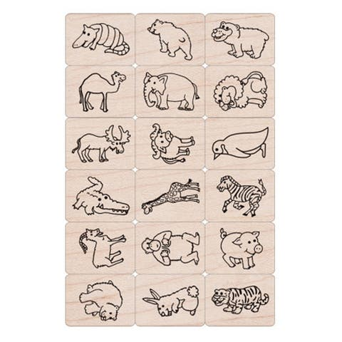 Ink 'n' Stamp Fun Animals Stamps, Set of 18 - One Size